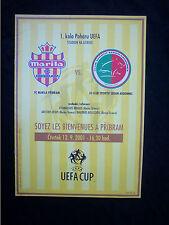ORIG. prg UEFA Cup 2001/02 FC Marila psicología-sedan Ardennes rara vez!!!