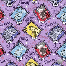 165000081 - Disney Princess Sketch Purple Cotton Fabric by the Yard Cinderella