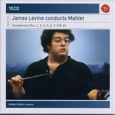 James Levine Conducts Mahler: Symphonies nos. 1, 3, 4, 5, 6, 7, 9 & 10 (CD,...