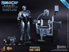 "Sideshow Hot Toys 1/6 Scale 12"" Robocop Action Figure w/ Mechanical Chair MMS203"
