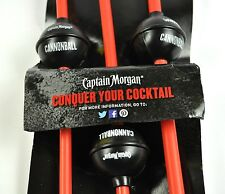 3er Pack Captain Morgan USA Cannonball Kanonenkugel Style Strohhalme Trinkhalme
