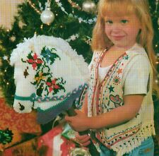 GIDDY UP HORSEY STICK HORSE PLASTIC CANVAS PATTERN INSTRUCTIONS