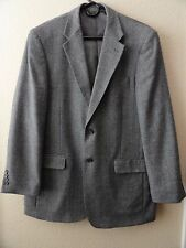 Bill Blass Men's Gray Herringbone Wool Cashmere Sport Coat Blazer Jacket 44R New