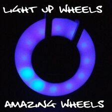 Scooter Wheels x2 100mm LED Light Emitting PU incl bearings + Check Grip Tape