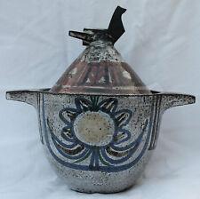 Très beau pot couvert JEAN DERVAL VALLAURIS Non Signé Oiseau