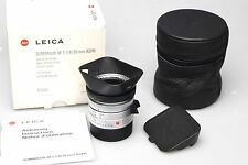 Leica summilux-M 1:1 .4/35mm ASPH. silver Chrome 11883 6-bit Like New