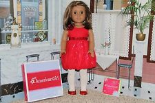 "American Girl 2013 ""Red Sparkle Party Dress"" - COMPLETE - NIB"