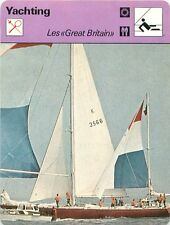 FICHE CARD Great Britain II Ketch 72 Pied United Kingdom UK Voilier Yacht 70s