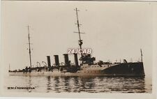 "Royal Navy Real Photo. HMS ""Newcastle"" Light cruiser. Shanghai Rebellion. 1910"