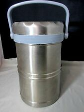 Stainless Steel 74oz Thermal Lunch Box w/ 3 Lidded Bowls 12 Hours Hot Cold ARTEK