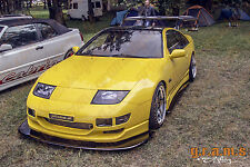 Nissan 300zx Z32 CARBON FIBER Front Splitter / Lip with PAIR of SUPPORT RODS v4