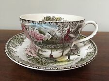Johnson Brothers THE FRIENDLY VILLAGE Oversized Cup & Saucer Set~The Well