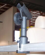 "Fishing Rod Holder, Fits 1 1/4"" Square Tube Rail On Pontoon, Party Boats"