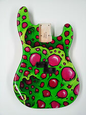 Replacement Guitar Body for Fender P Bass - Hand Painted - Original Art - Funky