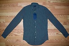 NWT Zara Men's S Small Green Striped Formal Business Dress Shirt Slim Fit