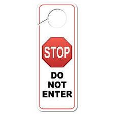 Stop Sign Do Not Enter Plastic Door Knob Hanger Sign