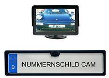 Farb Weitwinkel Rückfahrkamera - EU Kennzeichen Halter - Monitor 4,3 Zoll