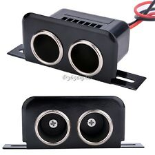 Car Cigar Cigarette Lighter 12v Female Double Socket Plug Connector Adapter NEW