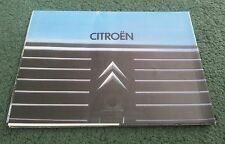 February 1979 CITROEN RANGE 2CV6 DYANE VISA GSPECIAL GS CX - UK BROCHURE