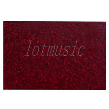 Bass Guitar Pickguard material Blank Scratch Plate Sheet Red Pearl 3ply 43X29cm