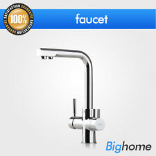 Swivel Spout Dual Handles Kitchen Sink Faucet With Pure Water Tap Hot/Cold Mixer