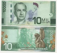 Costa Rica 10000 Colones 2-9-2009 Pick 277 UNC Uncirculated Banknote