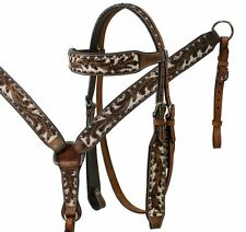 Western Acron Tooled Leather Bridle & Breastcollar Set w/ Studs! NEW HORSE TACK