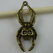 11083*10PCS Alloy Insects Skull Spider Pendant Charms Vintage Bronze Tone