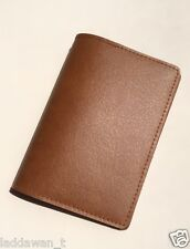 Passport Cover Tan Brown Holder Wallet Case Travel Ticket Leather GIFT Standard