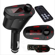 LCD Car Kit Bluetooth MP3 Player FM Transmitter Modulator SD MMC USB Remote Redk