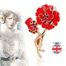 UK Poppies Red Poppy Flower Lapel Pin Badge Banquet Enamel Remembrance Brooch