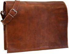 New Genuine Vintage Leather Messenger Shoulder Laptop Bag Leather Bag handmade