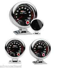 "GlowShift Tinted Series 3 3/4"" Tachometer Gauge with Shift Light GS-T09"