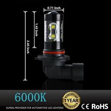 2x 50W H10 9145 High Power LED CREE 6000K Super White Fog Lights Bulbs OEM PRICE