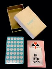 Coricidin D Cold Tablets Vtg Playing Cards Original Box 1969 Schering Unopened