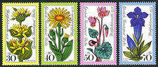 Germany-Berlin 9NB119-9NB122,MNH.Alpine Flowers. Gentian, Arnica, Cyclamen, 1975