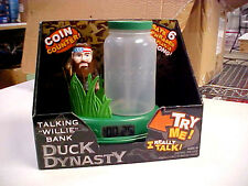 New Talking Duck Dynasty Willie Bank Talking Coin Counter  + 6 Phrases & A Song