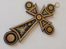 ANTIQUE VICTORIAN PIQUE CROSS PENDANT C. 1870 (mid 19th century)