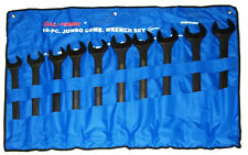 New 10pc Jumbo Metric Combo Wrench Set 34mm - 50mm Combination BLACK OXIDE