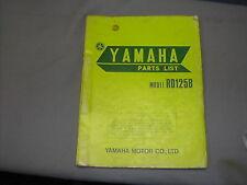 Yamaha RD125B Factory Parts list Manual