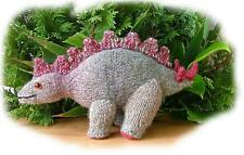 STIGGY the STEGOSAURUS dinosaur toy knitting pattern by Georgina Manvell