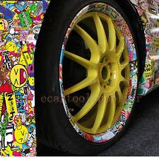 "60"" x 20"" JDM PIG CARTOON GRAFFITI CAR STICKER BOMB WRAP SHEET DECAL VINYL DIY"