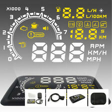 "Auto 5.5"" Car HUD Head Up Display OBD II Speed Warning System Fuel Consumption"