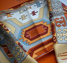 """Original hermès pañuelo careé scarf """"Kilim"""" nuevo & box!"""