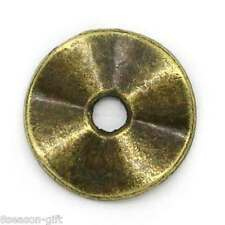 "100PCs Metal Spacer Beads Round Bronze Tone 10mm( 3/8"")Dia."