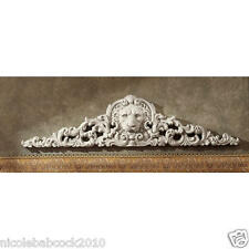 Toscano Remoulage Lion Antique Stone Finished Sculptural Wall Pediment