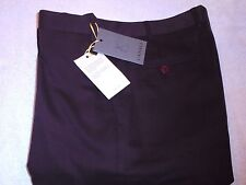Canali Stretch Cotton Blend Cavalry Twill Burgundy Brown  Pants NWT 36  $345