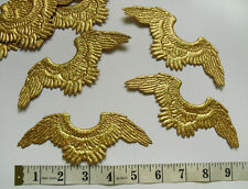 """5-5/8"""" Metallic Gold Angle Wings Padded Appliques,Doll,Christmas-2 pcs-D011"""