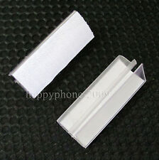 50*Velcro Clear Plastic Table  Skirting clip Desk Cloth Clamps Tableware Decor
