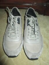 FANTASTIC MENS COACH GRAY TAUPE LEATHER NYLON SNEAKERS, SZ 9 NEW LQQK!!